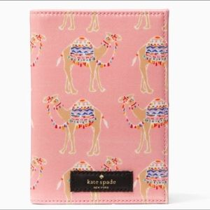 Kate Spade Camel Party Passport Holder